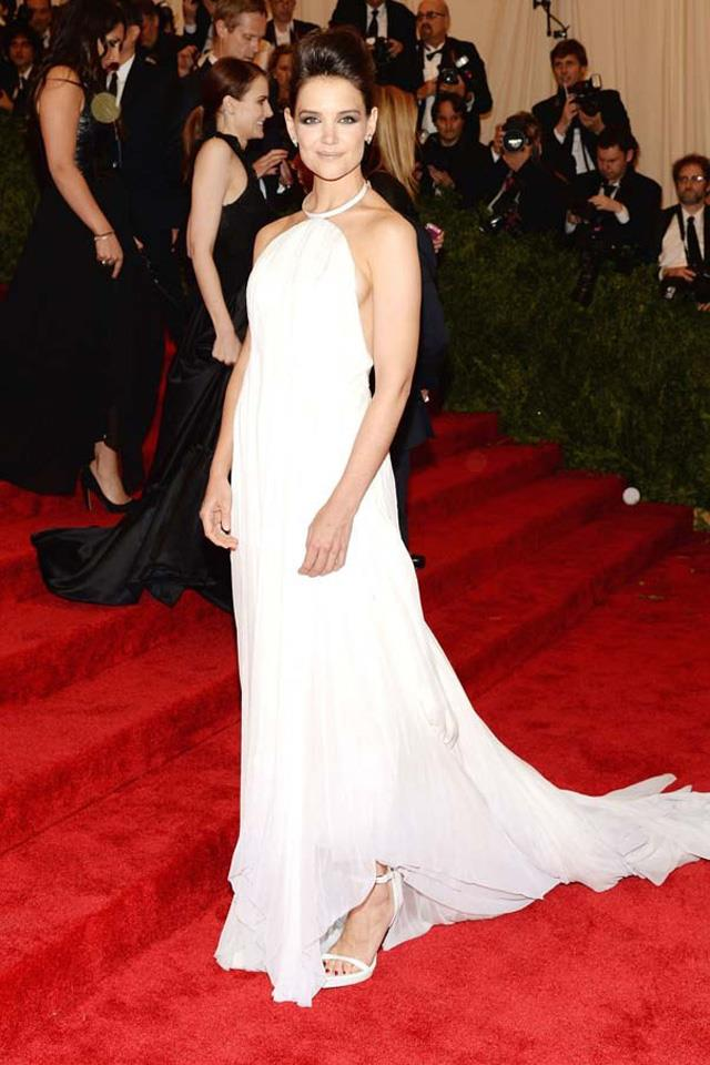 "9. Katie Holmes at the 2013 Met Gala in <a href=""http://www.harpersbazaar.com.au/runway-report/the-shows/ready-to-wear/2015/9/calvin-klein-ss16-rtw/"">Calvin Klein.</a>"