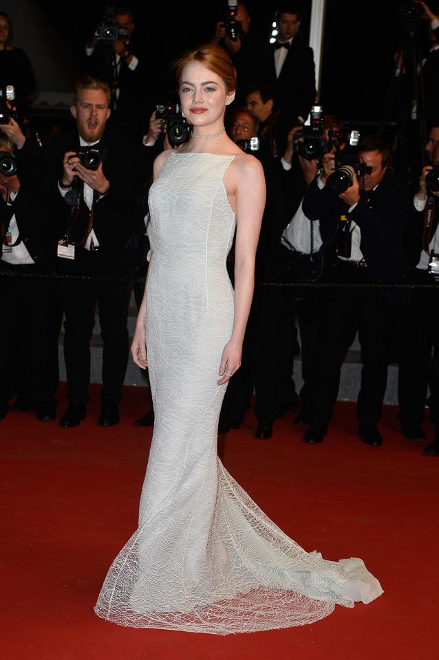 13. Emma Stone attends the <em>Irrational Man</em> Premiere during the 68th Cannes Film Festival.