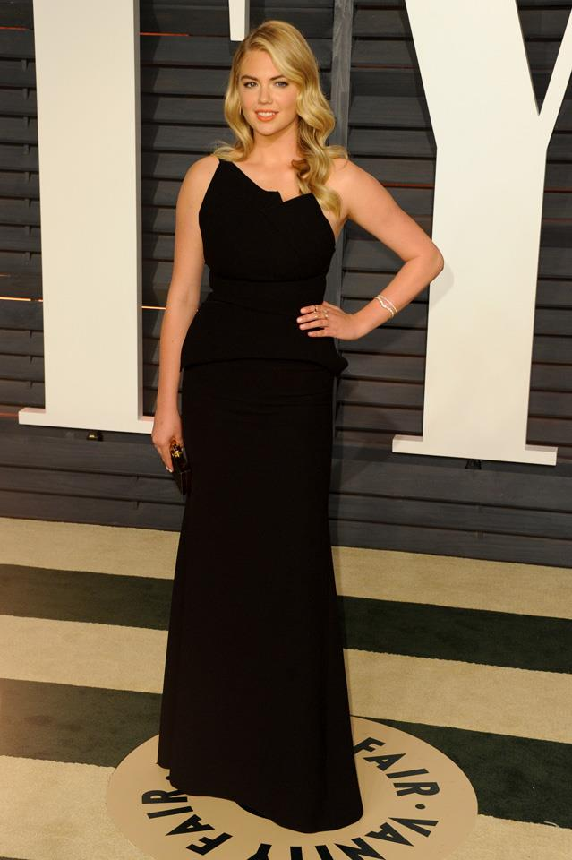 """<strong>February, 2015 </strong> <br><br> Kate attending the Vanity Fair Oscars after party. <br><br> In her own words: <em>""""When people think I can'tdo something or feel negative about me, this just fuels me to succeed."""" </em>"""