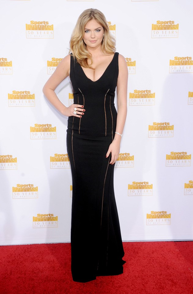 """<strong>January, 2014 </strong> <br><br> Kate celebrating the 50th anniversary for the <em>Sports Illustrated</em> swimsuit issue. <br><br> When speaking of <em>Harper's BAZAAR</em>'s global fashion director Carine Roitfeld:<em>""""Carine has such an interesting idea of beauty. She's fun, sexy, loves herself and really owns her body."""" </em>"""
