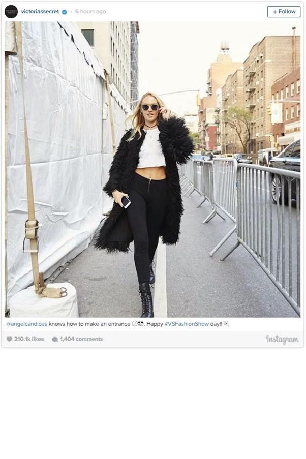 "<strong>CANDICE SWANEPOEL</strong><BR><BR> Instagram <a href=""https://instagram.com/victoriassecret/"">@victoriassecret</a>"