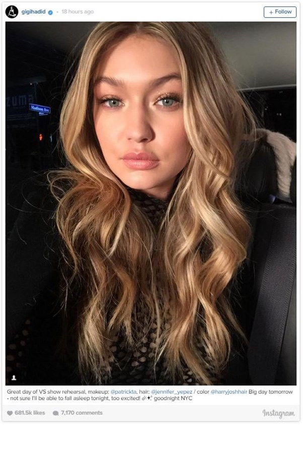 """<strong>GIGI HADID</strong><BR><BR> Instagram <a href=""""https://instagram.com/gigihadid/"""">@gigihadid</a>"""