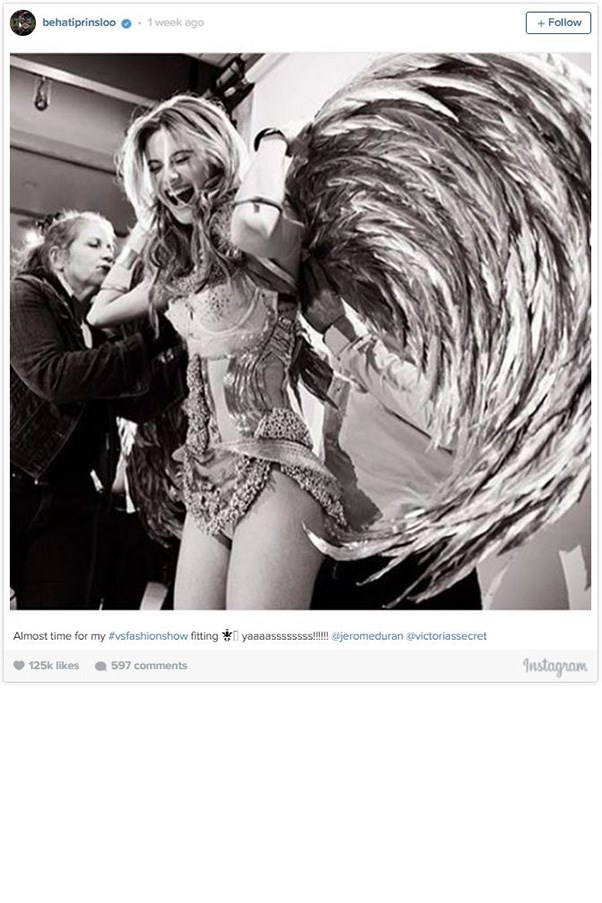 """<strong>BEHATI PRINSLOO</strong><BR><BR> Instagram <a href=""""https://instagram.com/behatiprinsloo/"""">@behatiprinsloo</a>"""