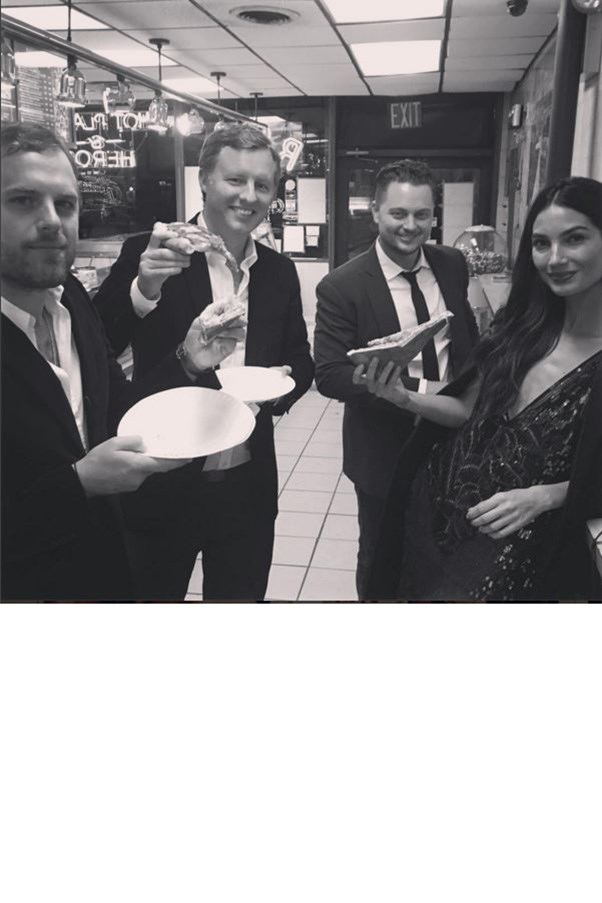 """<strong>LILY ALDRIDGE AND HUSBAND CALEB FOLLOWILL (FAR LEFT)</strong><BR><BR> """"No time wasted 🍕🍕🍕 @tn_rooster @palmernashville @caseytmcgrath""""<BR><BR> Instagram <a href=""""https://instagram.com/lilyaldridge/"""">@lilyaldridge</a>"""