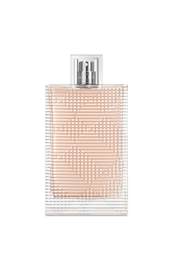 """My favourite fragrance is My Burberry Brit."" <br><br>Burberry Brit Rhythm, $132, at <a href=""http://shop.davidjones.com.au/djs/en/davidjones/burberry-brit-rhythm-womens-90ml-eau-de-toilette"">David Jones</a>"