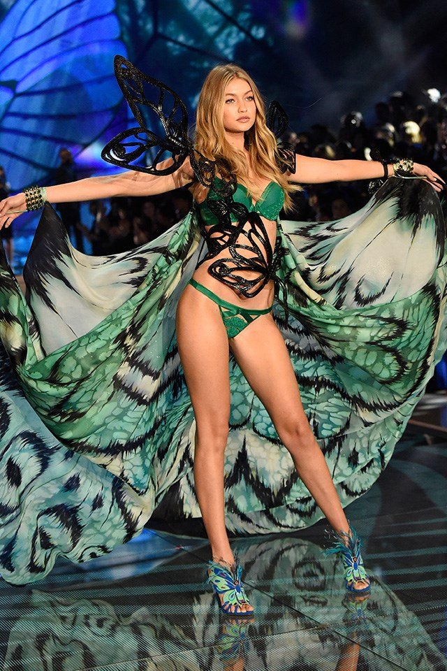 Gigi Hadid! This was the blonde bombshell's third time trying out for the famed fashion show, and her butterfly wings costume ensured it was a walk to remember.