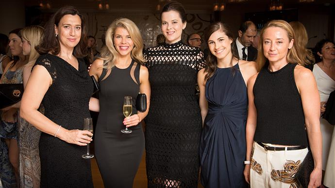 Estée Lauder's Emmerentia, Kate Gildea, Shannon Edwards, Danielle Prince (second from right) and <em>Harper's BAZAAR</em> deputy editor Eugenie Kelly (far right)