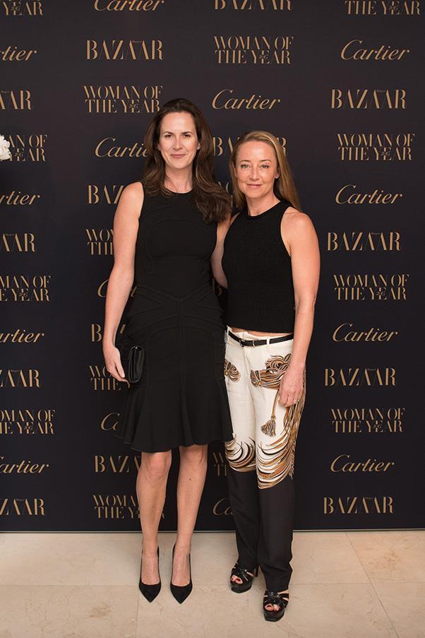 <em>Harper's BAZAAR</em>'s fashion director, Thelma McQuillan and deputy editor Eugenie Kelly