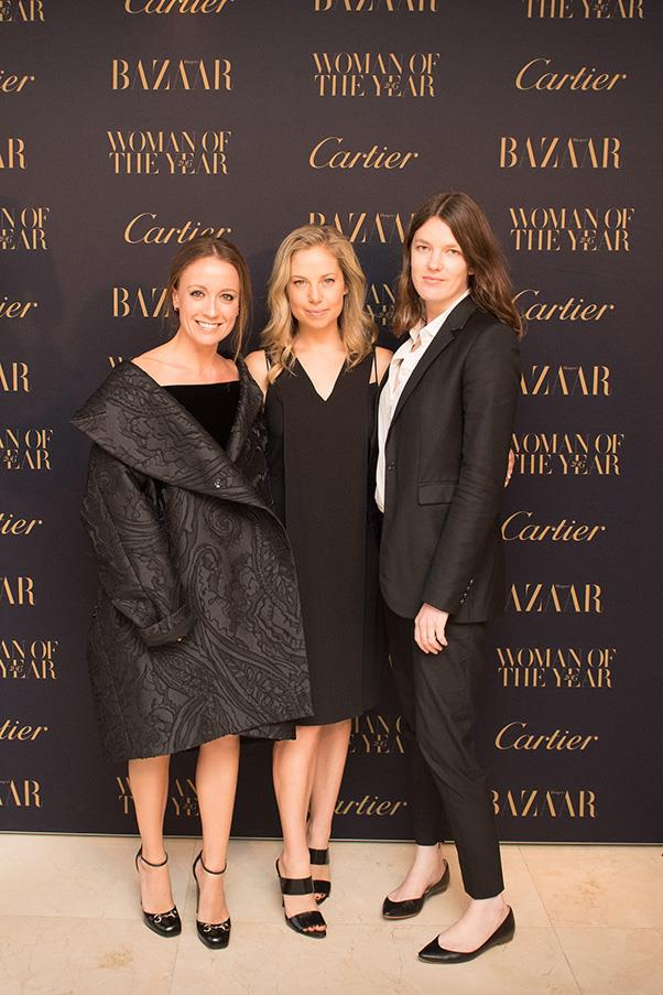 <em>Harper's BAZAAR</em>'s fashion director Karla Clarke, digital editor Alison Izzo and fashion features director Clare Maclean