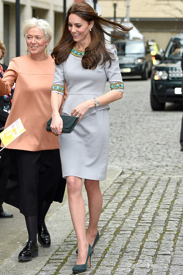 Kate donned her favourite Matthew Williamson dress (it's one of the few pieces she's worn out on more than one occasion), to speak at the Place2Be Headteacher Conference in London.