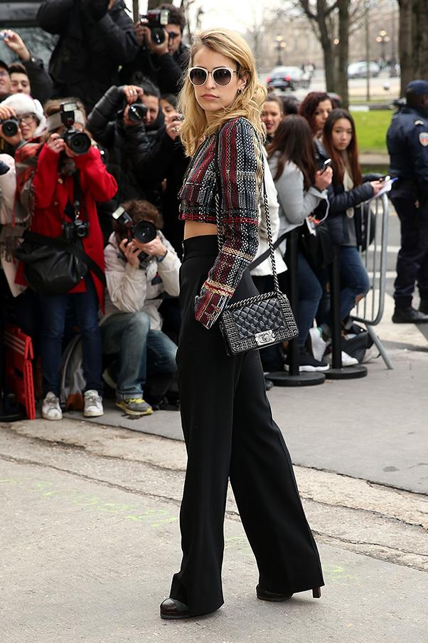 <strong>1. THE CHANEL 'BOY' BAG</strong><BR><BR> Alice Dellal