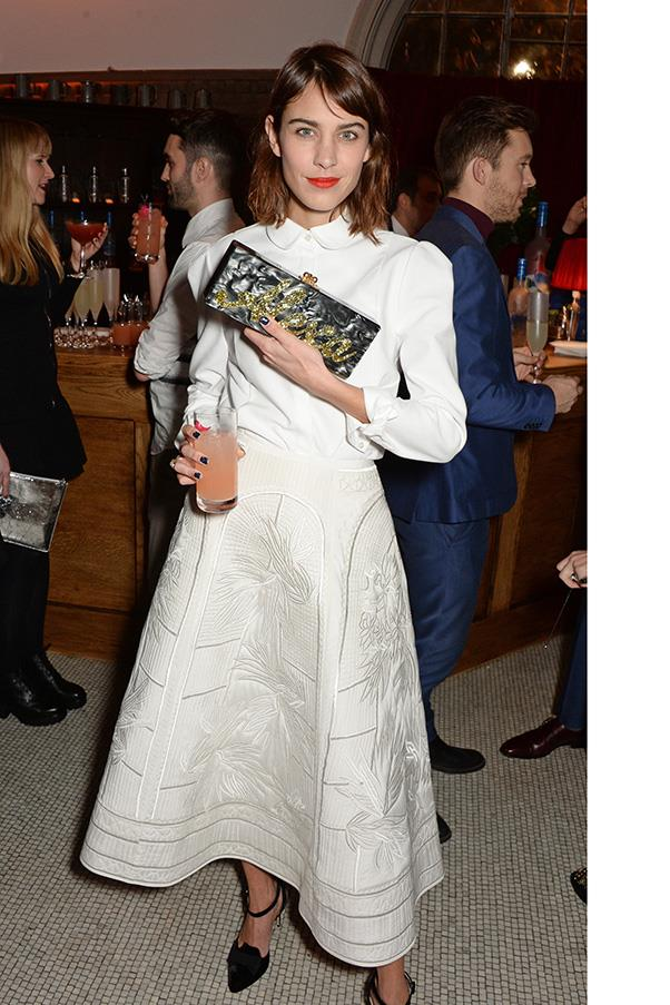 <strong>3. AN EDIE PARKER CLUTCH</strong><BR><BR> Alexa Chung