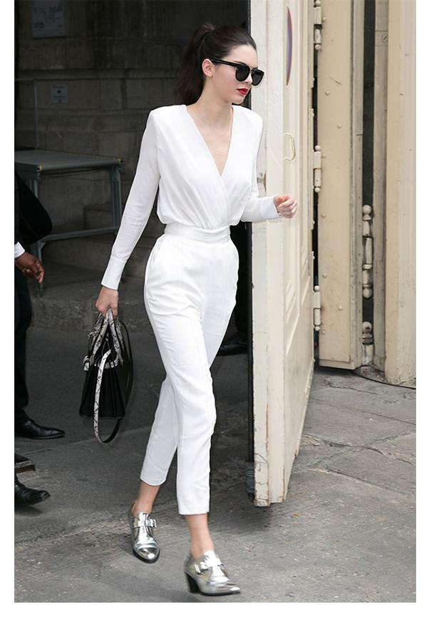 <strong>Kylie, what is the one piece that Kendall wears that you wouldn't be seen dead in?</strong> <br><br> She looks amazing in super high-waisted anything… I have to find the perfect pair to pull [that] off.