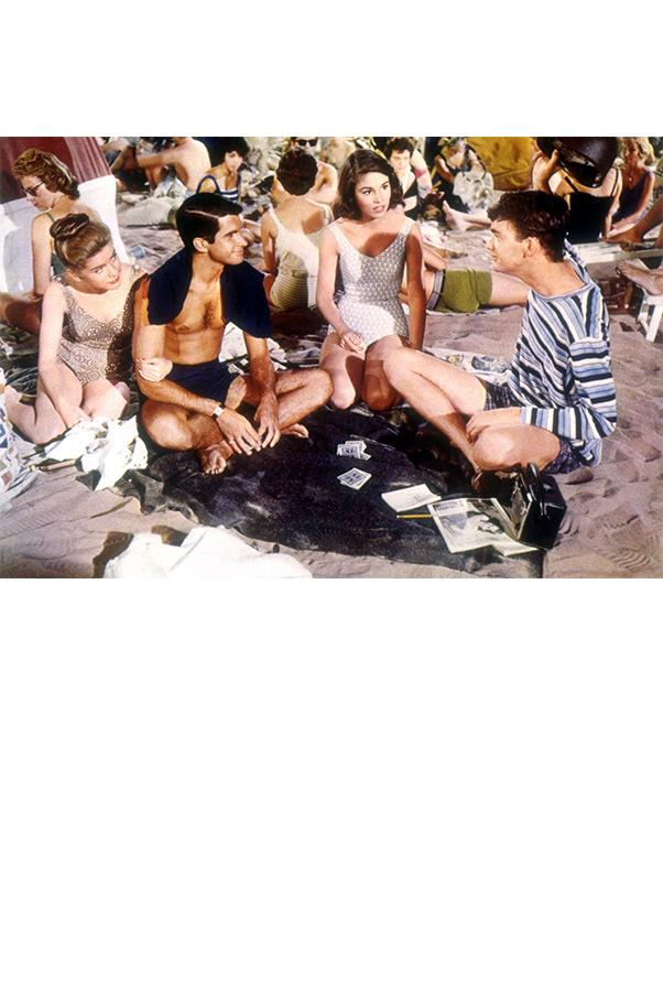 """<strong><em>Where The Boys Are</em>, 1960</strong> <br><br> Long before college coeds began annually invading Fort Lauderdale for spring break, Paula Prentiss, her gal pals, and a very young George Hamilton made the location every bit the hot spot in this coming-of-age flick. """"MGM was the best at making you perfect,"""" Prentiss recounted of starring in the film. """"Look how beautifully they dressed us—perfect outfits!"""" We couldn't agree more."""