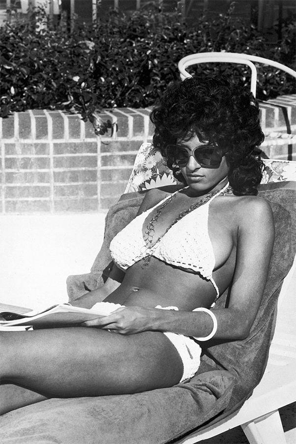"""<strong><em>Coffy</em>, 1973</strong> <br><br> Pair a little macramé and a lot of attitude and you have Pam Grier, in her first leading role as a nurse turned """"baddest one-chick hit-squad"""" out to avenge a criminal drug gang. Hexagonal shades are not optional when emulating this look."""