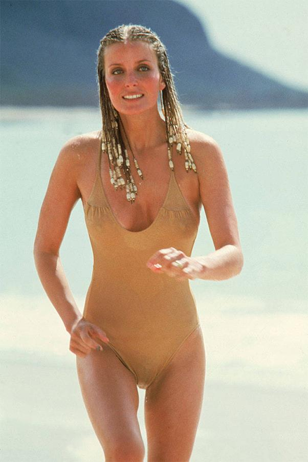<strong><em>10</em>, 1979</strong> <br><br> This beyond basic nude one-piece proved sometimes it's the simpler things in life that matter the most, unless you factor in Bo Derek's trendsetting cornrow braids.