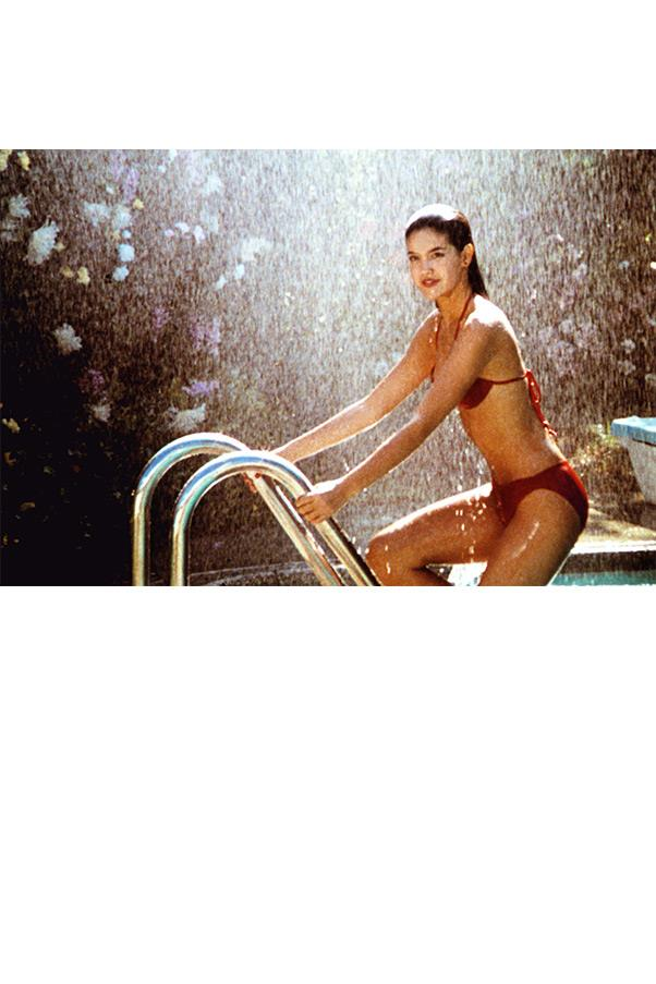 <strong><em>Fast Times at Ridgemont High</em>, 1982</strong> <br><br> Phoebe Cates' itsy-bitsy red bikini was the stuff that fantasies were made of, quite literally, as it spurred on costar Judge Reinhold's racy daydream sequence that remains more memorable to this day than Sean Penn's role as high school burnout Jeff Spicoli.