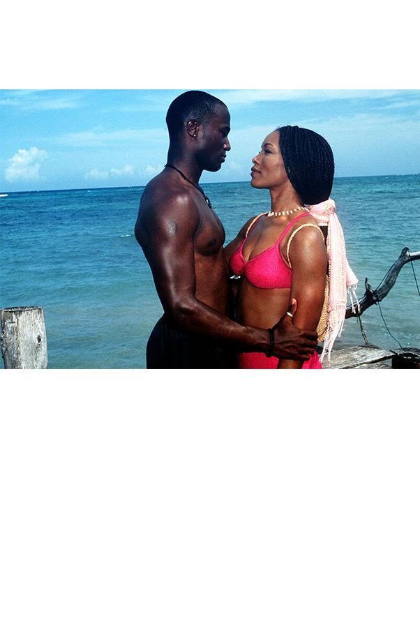 <strong><em>How Stella Got Her Groove Back</em>, 1998</strong> <br><br> Spoiler alert. This scene gives away how Stella (Angela Bassett) indeed got her groove back—in a hot pink bikini in the arms of a dashing Taye Diggs.