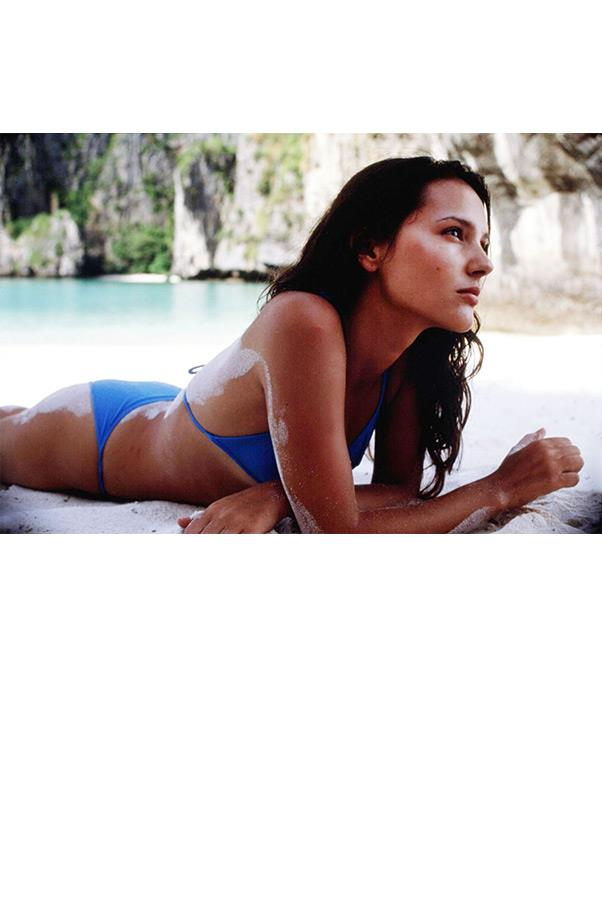 <strong><em>The Beach</em>, 2000</strong> <br><br> Gorgeous beach location? Check. Gorgeous brunette wavy strands? Check. Gorgeous blue bikini? Check. No wonder this scene featuring Virginie Ledoyen is unforgettable.