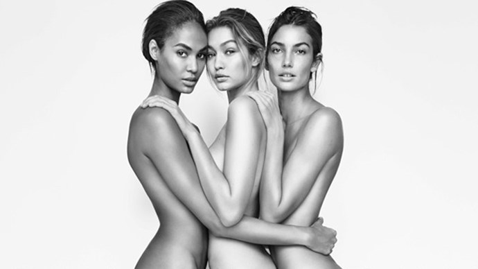 Joan Smalls, Gigi Hadid and Lily Aldridge Go Nude For Stuart Weitzman