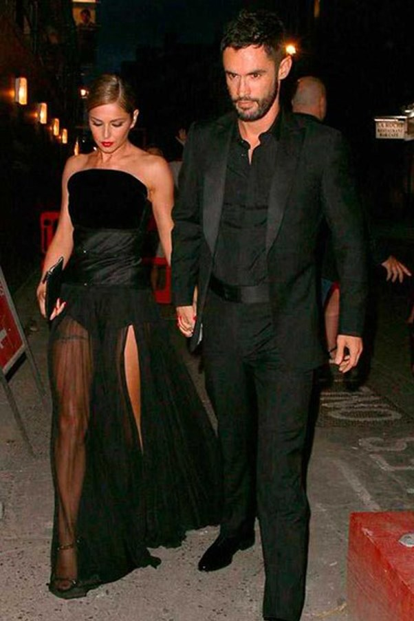 The black Ralph & Russo couture gown that Cheryl wore for her wedding party had everyone talking.