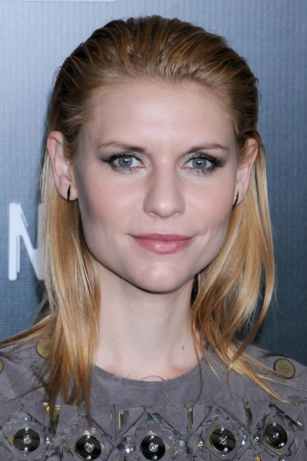 9. SLICKED BACK, WET LOOK HAIR<BR><BR> Claire Danes