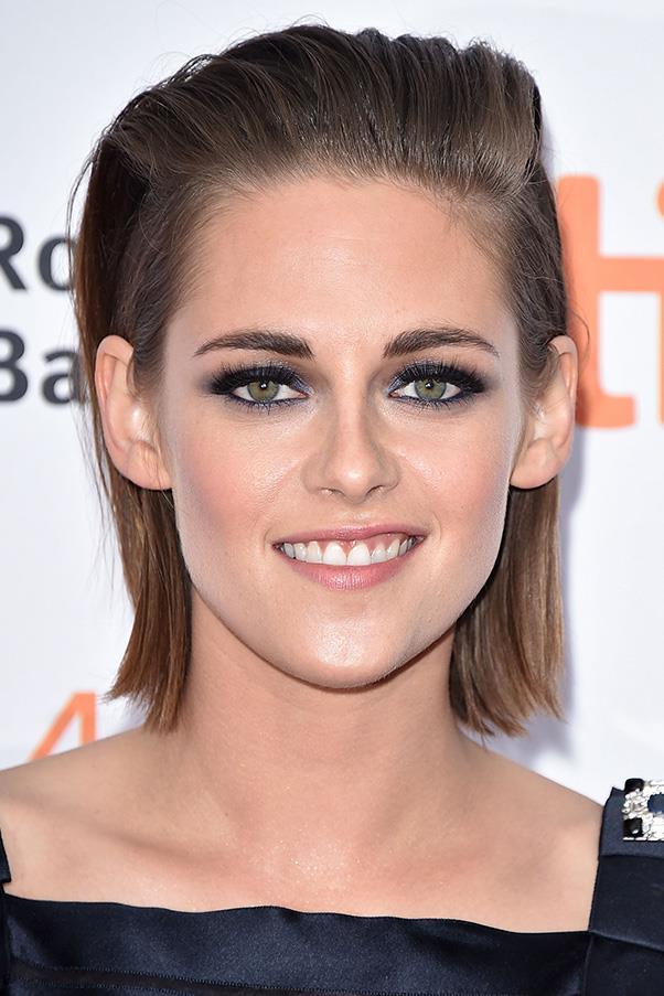 9. SLICKED BACK, WET LOOK HAIR<BR><BR> Kristen Stewart