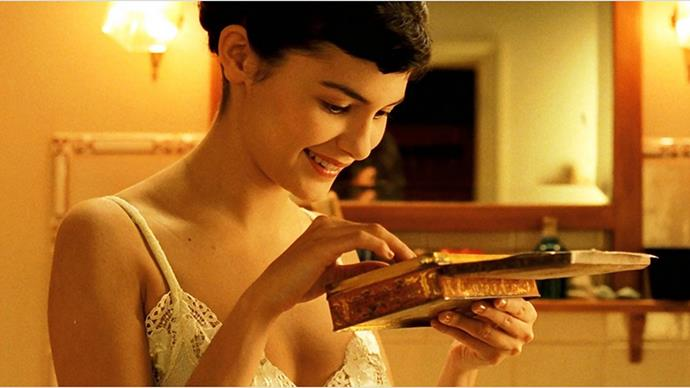 <strong>9. AMÉLIE</strong><br><br> Amélie; The Fabulous Destiny of Amélie Poulain is a technicolour Parisian dream following the romantic journey of Amelie - an anti- Manic Pixie Dream Girl, played by Audrey Tatou.