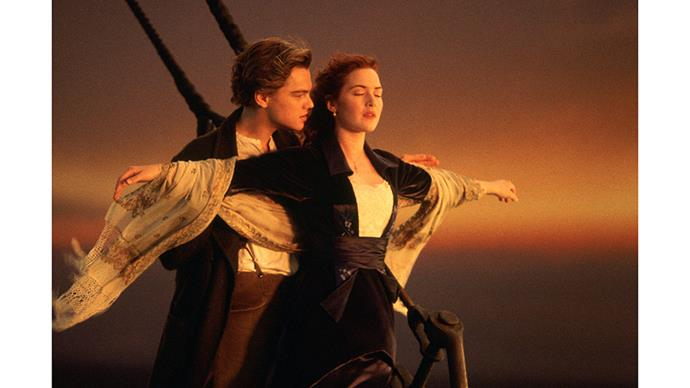 <strong>16. TITANIC (1999)</strong><br><br> Hands up if you've cried hysterically watching this movie? Yes? It's essentially Romeo and Juliet on a sinking boat, with young Leonardo and young Kate. Of course you did.
