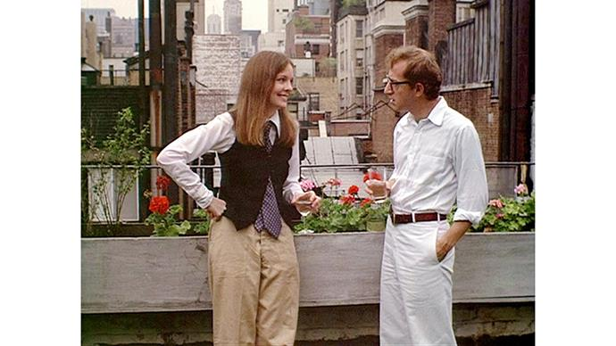 <strong>8. ANNIE HALL (1977)</strong><br><br> As problematic as Woody Allen is, nobody can deny the romantic pull of Annie Hall - regarded by many as his best film (it took home four Oscars). Bonus points to Diane Keaton's wardrobe - she insisted on styling herself.