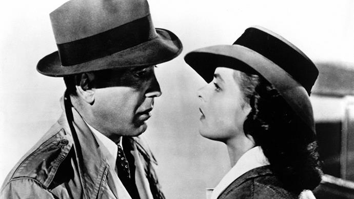 <strong>17. CASABLANCA</strong><br><br> <em>Casablanca</em> is arguably the most important romantic movie ever. So many quotable lines, so much sexual tension, so much at stake.
