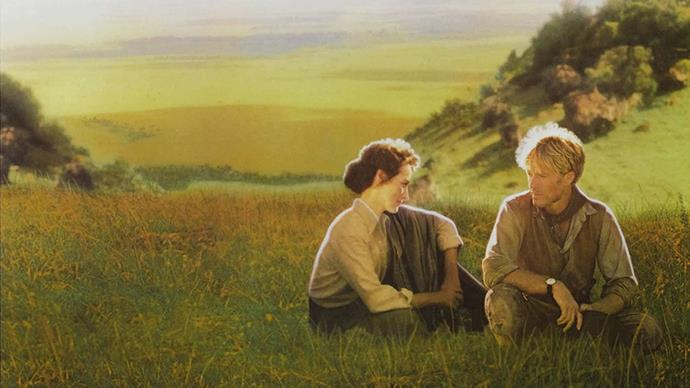 <strong>31. OUT OF AFRICA (1985)</strong><br><br> Meryl Streep and Robert Redford are the unlikely romantic match of your dreams in this epic, 7-Academy Award winning flick based on the true story of a Danish woman who managed her own farm in East Africa in the early 1900s.