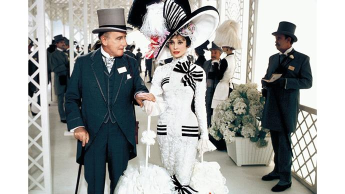 "<strong>40. MY FAIR LADY (1964)</strong><br><br> In this '60s musical Eliza Dootlittle (Audrey Hepburn) is ""transformed"" from a working class Cockney to a sophisticated Duchess as part of an academic experiment. Along the way, she falls for a young man called Freddy."