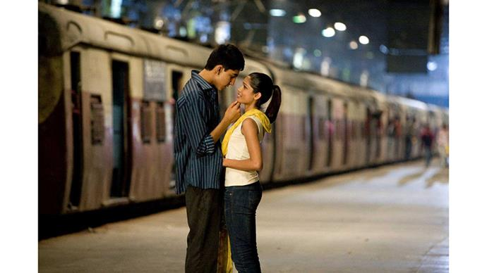"<strong>41. SLUMDOG MILLIONAIRE (2008)</strong><br><br> Danny Boyle's Indian-set, decades long love story tracks the story of Jamal, who goes on ""Who Wants to be a Millionaire"" to try and find his lost love, Latika. Dev Patel and Frida Pinto, who star as the leads, also fell in love while making the movie (!!)."