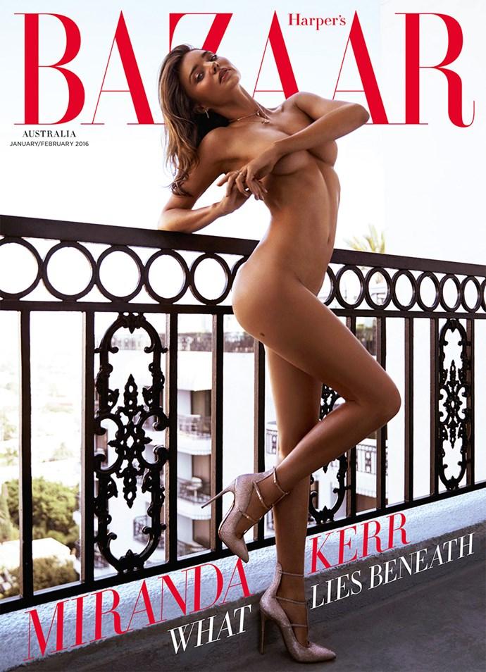 Miranda Kerr naked BAZAAR