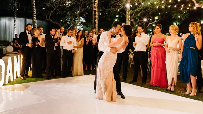 <strong>On the first dance:</strong> <br><br> Our first dance was to 'Let's Get It On' by Marvin Gaye. My husband DJs when he's not working as a doctor so as a wedding gift I bought him the original vinyl of the song and a pair of vintage Technics SL 1200 turntables.