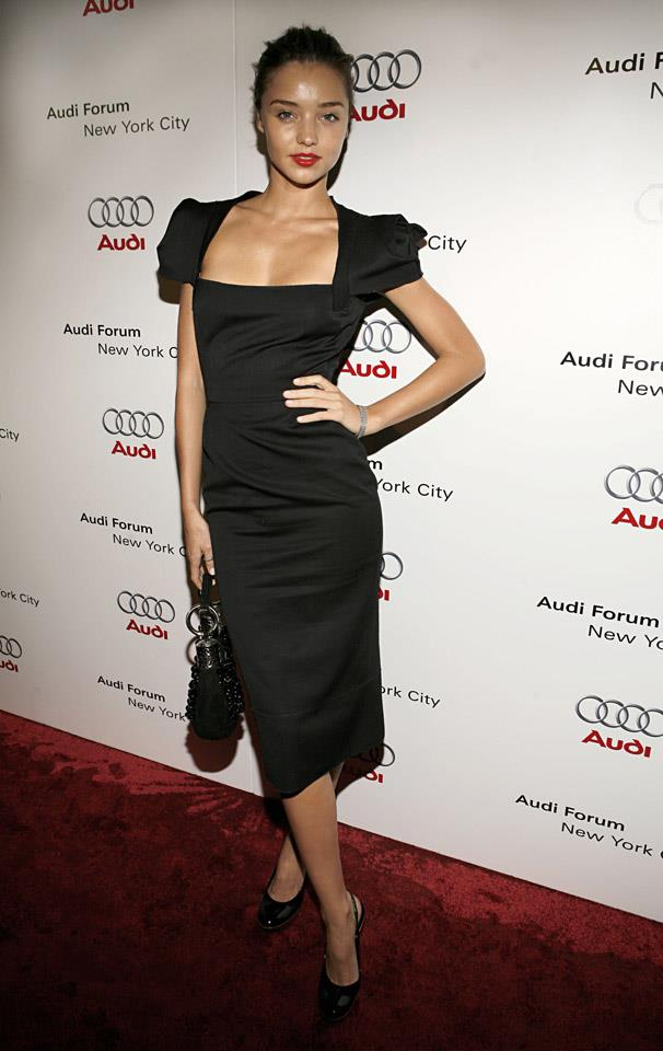 <strong>October 10, 2006</strong> <br><br> Miranda pairs this LBD with a red lip at the debut celebration for Audi's sports car, the R8, in New York.