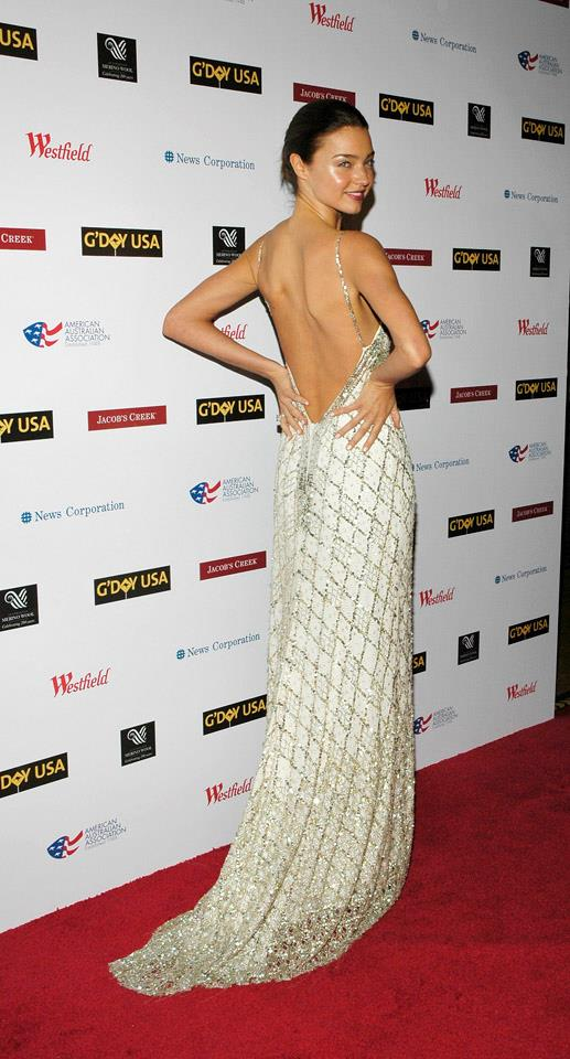 <strong>January 26, 2008</strong> <br><br> Miranda looks stunning in this sparkly gown at the G'day: Australia Week 2008 Black Tie Gala in New York.