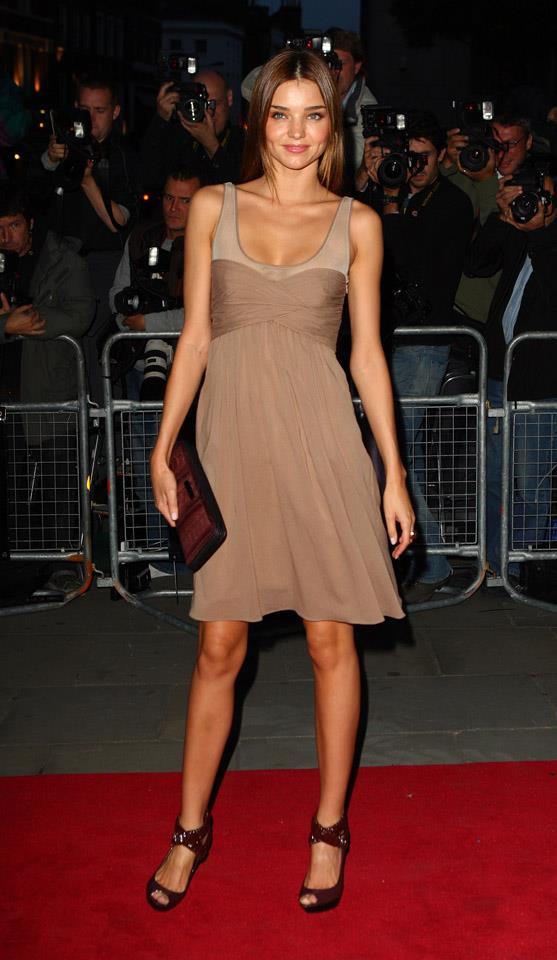 <strong>September 2, 2008</strong> <br><br> Miranda opts for shades of brown at the 2008 GQ Men of the Year Awards in London.