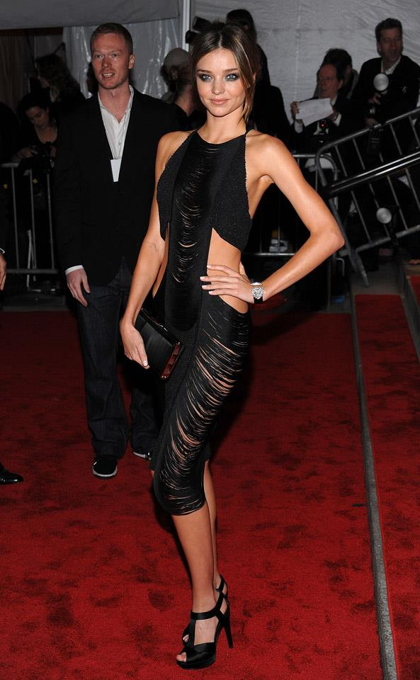 <strong>May 4, 2009</strong> <br><br> This fringed cut-out dress is a match made in heaven with Miranda, at 'The Model As Muse: Embodying Fashion' Costume Institute Gala.