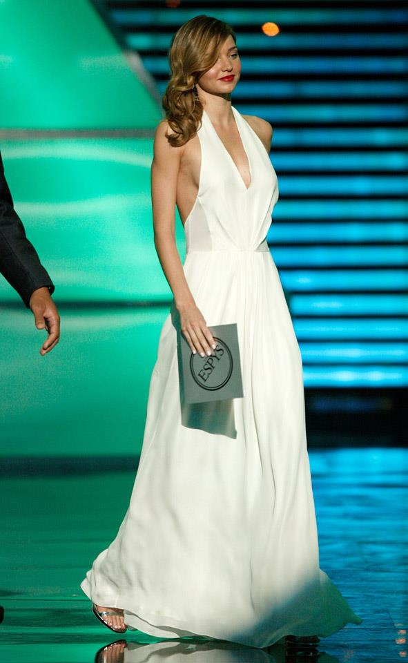 <strong>July 15, 2009</strong> <br><br> Miranda channels old Hollywood glamour beauty with this flowing white gown, at the 17th Annual ESPY Awards.