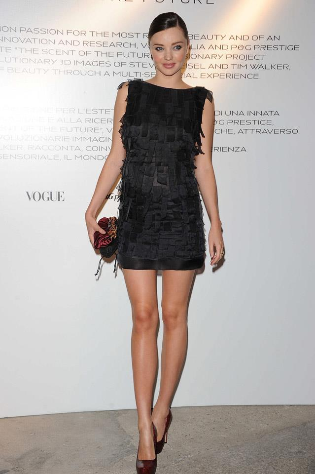 <strong>September 25, 2010</strong> <br><br> Another amazing LBD on Miranda during Milan Fashion Week.