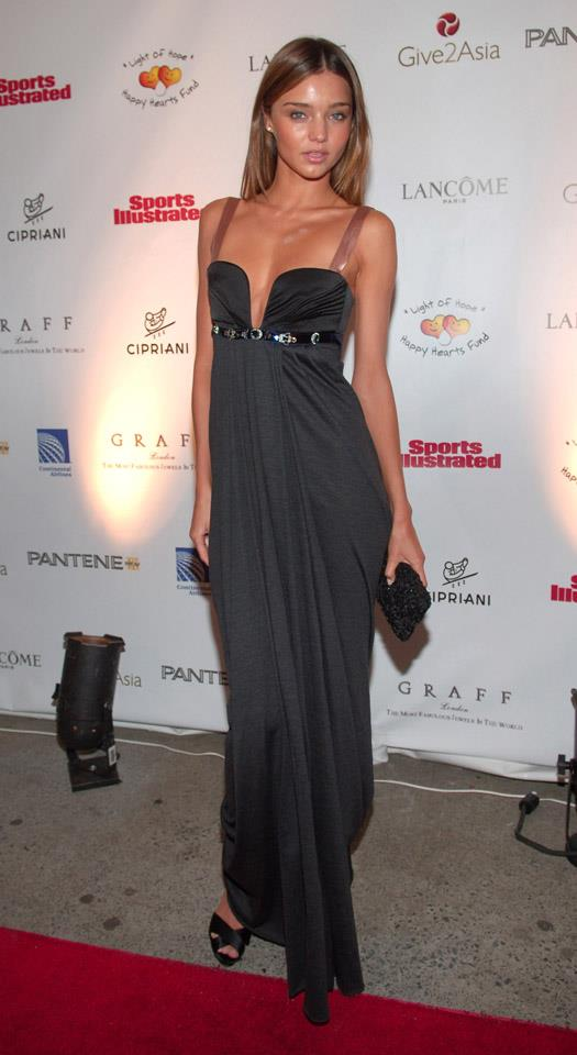 <strong>December 5, 2005</strong> <br><br> Miranda in a bejewelled silk gown at the 'Light of Heart' Gala to benefit the Happy Hearts Fund.