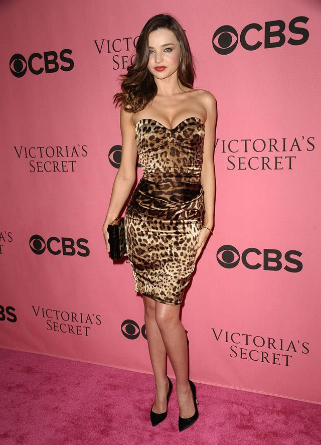<strong>November 29, 2011</strong><br><br> Miranda rocked a leopard print number to the 2011 Victoria's Secret fashion show viewing party.