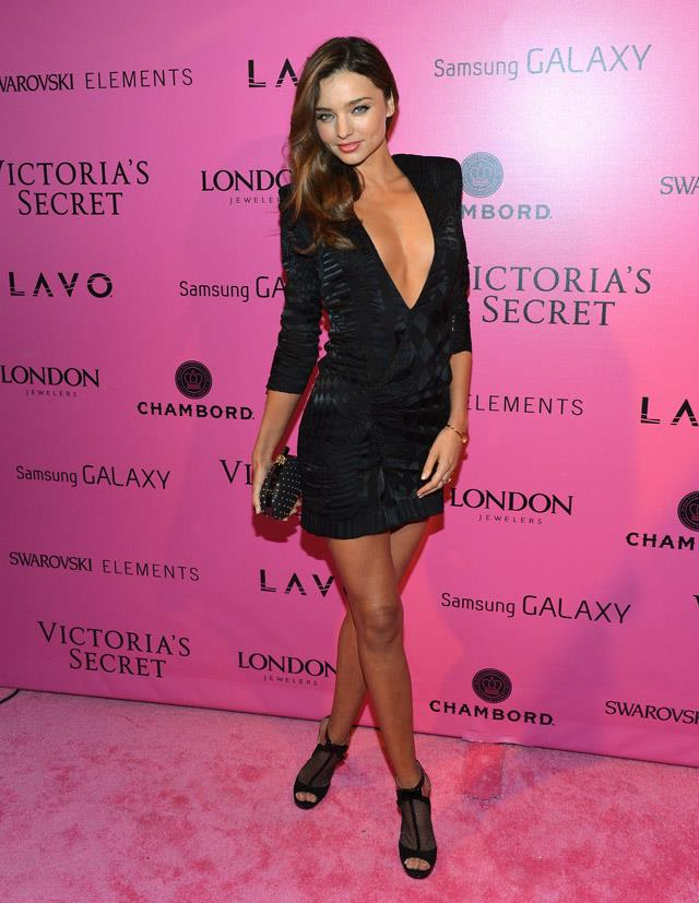<strong>November 7, 2012</strong><br><Br> Miranda goes full Victoria's Secret in this ensemble - at the Victoria's Secret fashion show after party.