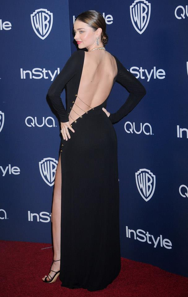 <strong>January 12, 2014</strong><br><br> Miranda donned a daring Pucci gown to the Warner Bros. and InStyle Golden Globe after party.