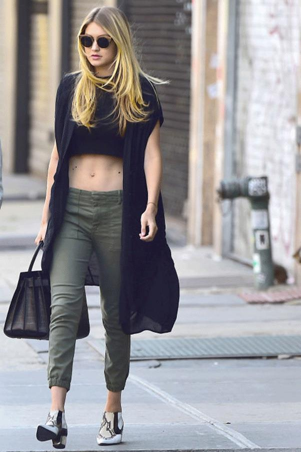 <strong>ALL THE WAY TO THE CROP</strong><br><br> Gigi Hadid