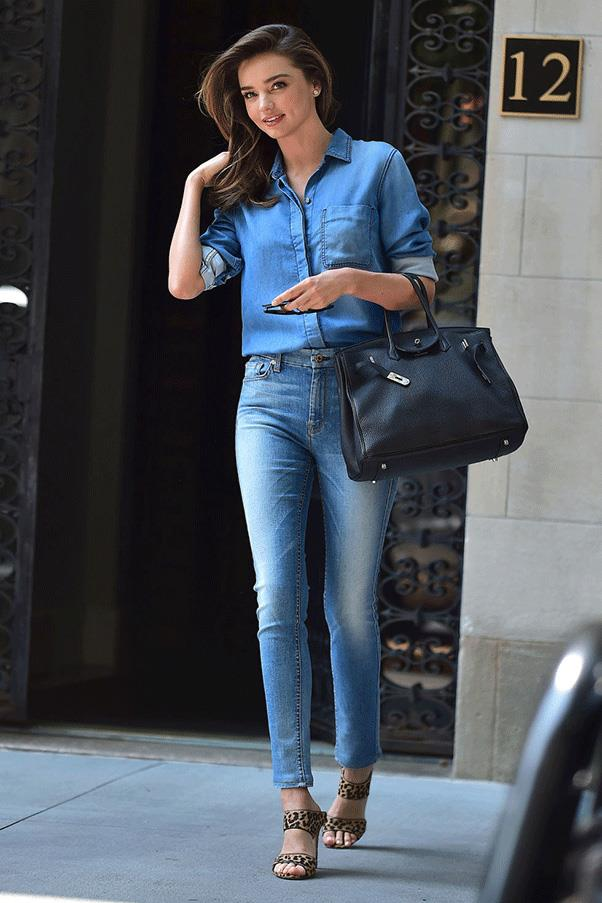 <strong>DONE IN DENIM</strong><br><br> Miranda Kerr
