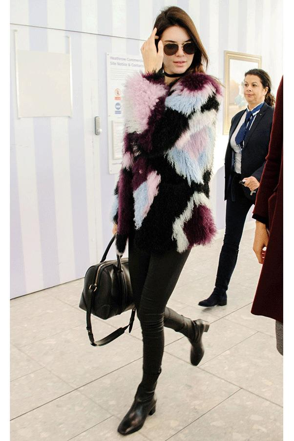 <strong>FUR OUT </strong><br><br> Kendall Jenner