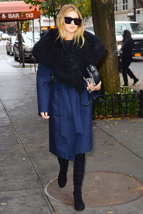 <strong>FUR OUT </strong><br><br> Gigi Hadid